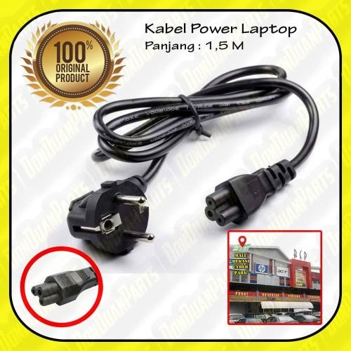 Foto Produk Kabel Power Adaptor Charger Laptop Notebook / jek sambungan lubang 3 dari Don Duan Parts