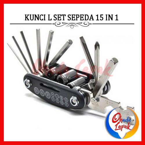 Foto Produk Repair Tool EDC Multifunctional 15 in 1 Kunci Set L Reparasi Sepeda dari Ohada Lapak