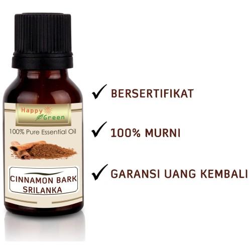 Foto Produk Happy Green Srilanka Cinnamon Bark Essential Oil (10 ml) Murni Natural dari Happy Green Garden - JKT