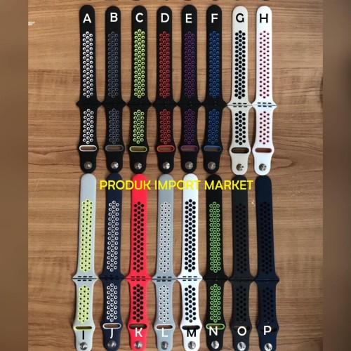 Foto Produk Strap Tali Jam iwatch Apple Watch Nike Series 4 5 F8 F9 Size 42 44 mm dari produk import market