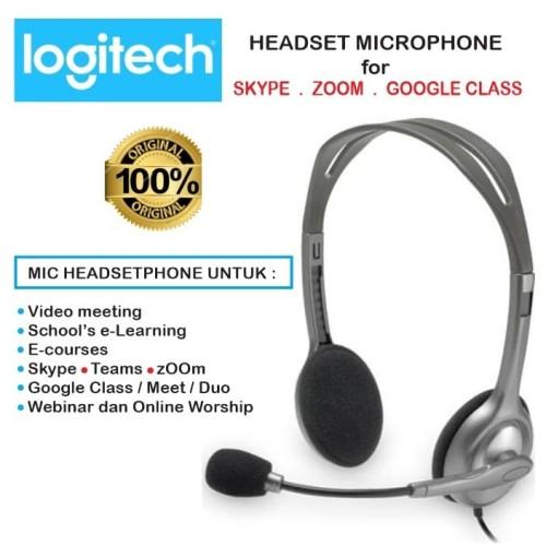 Foto Produk Mic Headphone Headset Logitech Skype. zOOm.Google Class. Video Meeting dari EtalaseBelanja