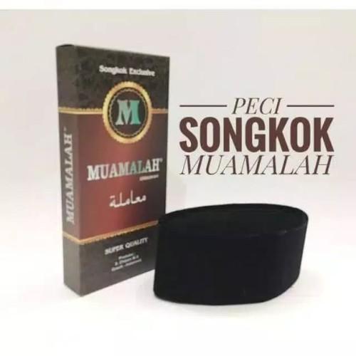 Foto Produk Muamalah - Peci Songkok Hitam Polos dari Rumah_Hilal