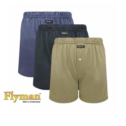 Foto Produk Flyman Celana Dalam Boxer Cotton Basic 3 PCS FM 3330 - M dari Flyman Nathalie Store