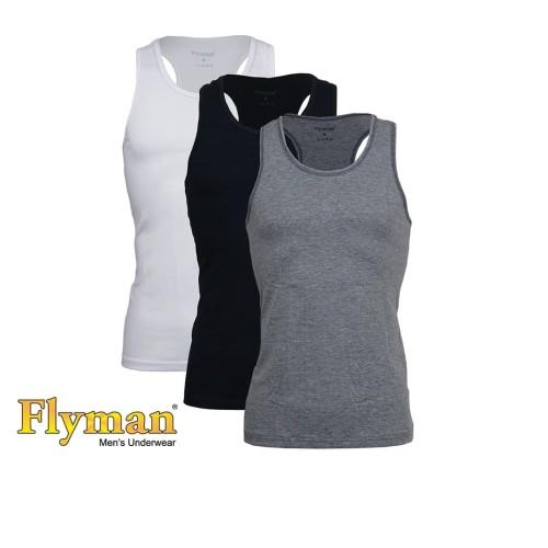 Foto Produk FlyMan Sporty Cross Tanktop Pakaian Dalam Pria Dewasa FMA 555 - Putih, M dari Flyman Nathalie Store