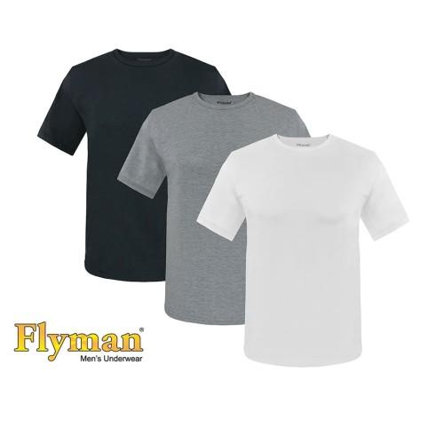 Foto Produk Flyman T-Shirt Sporty Man Kaos Pria Dewasa FMA 3078 - Hitam, M dari Flyman Nathalie Store
