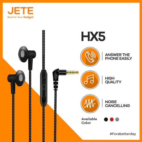 Foto Produk Headset HX5 JETE Earphone Super Bass Original dari Velo City