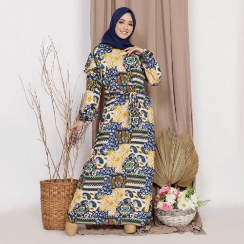 Foto Produk Mybamus Lodie Cotton Wrinkle Dress Mustard M15505 R93S6 dari Mybamus Official
