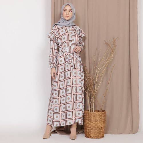 Foto Produk Mybamus Lodie Cotton Wrinkle Dress Brown M15503 R93S4 dari Mybamus Official