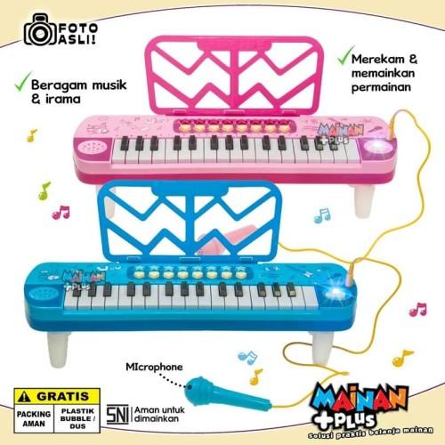 Foto Produk Mainan edukasi / Edukatif Keyboard Piano Little Musician - Biru Muda dari MainanPlus
