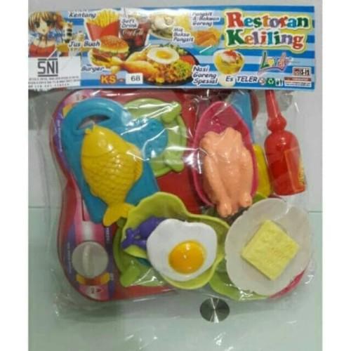 Foto Produk Mainan Anak Restoran Keliling & Masak - Masakan KS 68 dari ciustoys