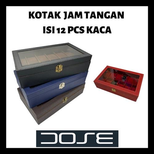 Foto Produk Ukuran Besar Tempat Kotak Jam Tangan Watch Box Isi 12 pcs - Biru dari DOSE Craft