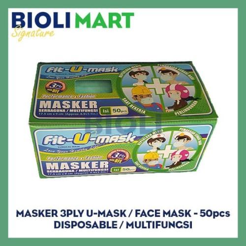 Foto Produk MASKER 3PLY EARLOOP FIT-U-MASK | DISPOSABLE - 50pcs dari Bioli Signature