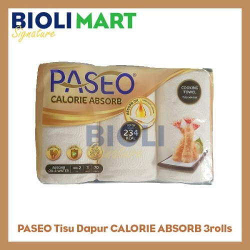 Foto Produk TISSUE PASEO TISSUE Dapur / Cooking Towel 3rolls - Bioli Mart dari Bioli Signature