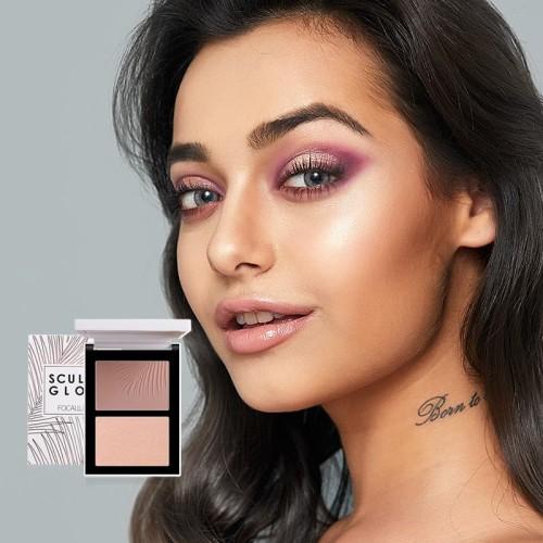 Foto Produk FOCALLURE Double Colors Highlighter&Contour Make Up Powder FA69 - FA69-03 dari beauty entity