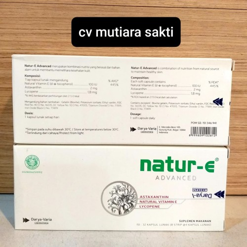 Foto Produk NATURE E ADVANCED NATUR-E 32 KAPSUL VITAMIN E ASTAXANTHIN dari C.V. MUTIARA SAKTI