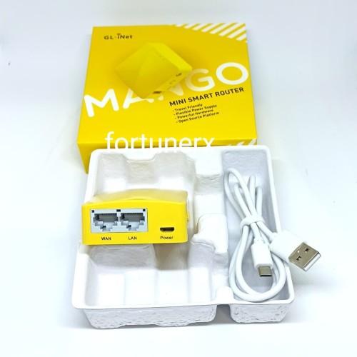 Foto Produk GL.Inet GL-MT300N-V2 Portable Mini Wireless Router Mini MANGO dari Fortunerx