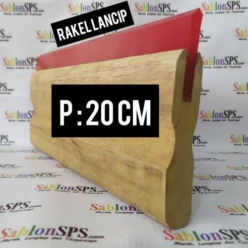 Foto Produk RAKEL SABLON MERAH LANCIP BESAR 7X50MM SET GAGANG KAYU P. 20CM dari SablonSPS