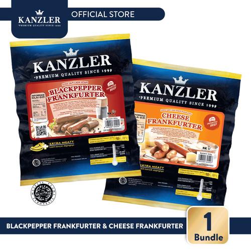 Foto Produk 1 Bundle - Kanzler Blackpepper Frankfurter & Cheese Frankfurter dari Kanzler Official Store