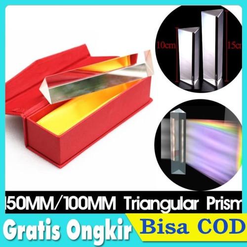 Foto Produk 10/15CM kaca optik prism glass prisma triangular segitiga fotografi - 15CM dari Toko Plus ID
