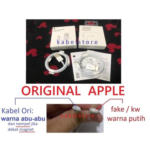 Foto Produk Kabel Data USB Lightning Iphone 6 5s 5c 5 / Ipad 4 / Mini ORIGINAL100% dari Kabel Store -KabelApple