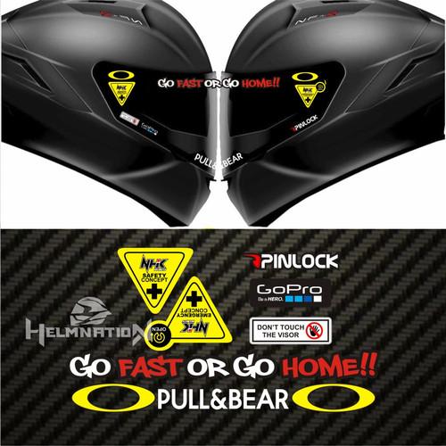 Foto Produk Value Set Paket Stiker Helm NHK - Go Fast dari @helm_nation
