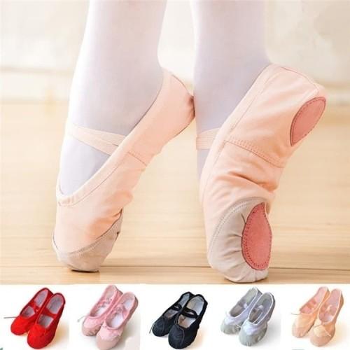 Foto Produk sepatu balet kanvas sepatu tari tamborin dari dragonsport
