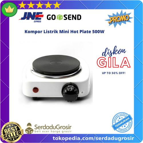 Foto Produk Kompor Listrik Mini 500W Kompor Masak Elektrik Portable Travel Camping dari SERDADU GROSIR