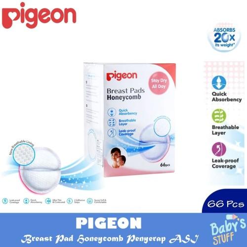 Foto Produk Pigeon Breast Pad Honeycomb Isi 66 Pcs - Penyerap ASI dari Baby`S Stuff
