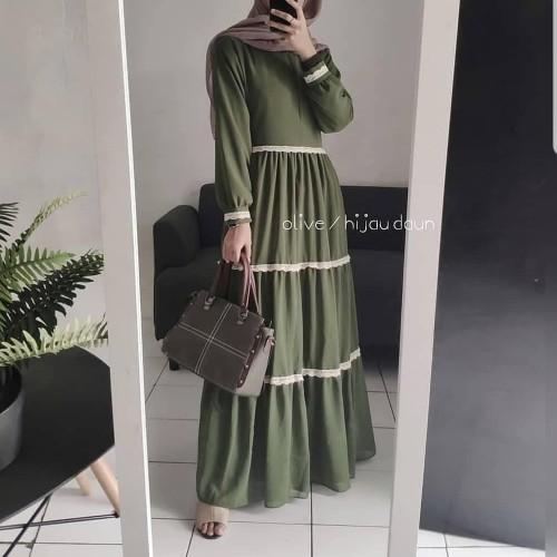 Foto Produk Baju Long Dress Hijab Baju Gamis Murah Baju Gamis Wanita Terbaru OA3 dari HIJABERS 88