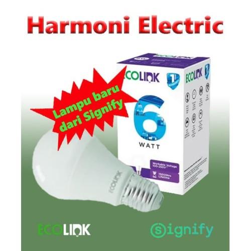 Foto Produk Lampu LED ECOLINK 6W 6 W 6 Watt Cahaya Putih Promo dari Harmoni Electric