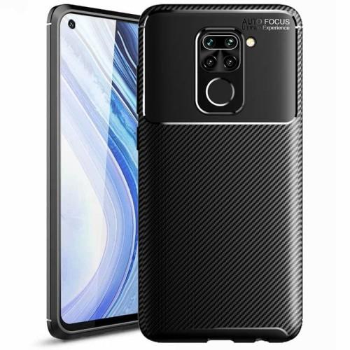 Foto Produk Carbon II TPU Case Xiaomi RedMi Note 9 - Casing Black Soft Armor Cover dari Logay Accessories