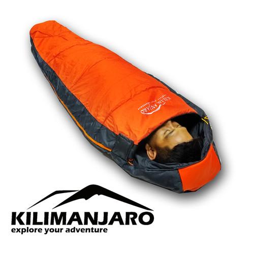 Foto Produk Sb / Sleeping Bag Mummy Kilimanjaro Atmosfer Dacron - Orange dari Kilimanjaro Outdoor