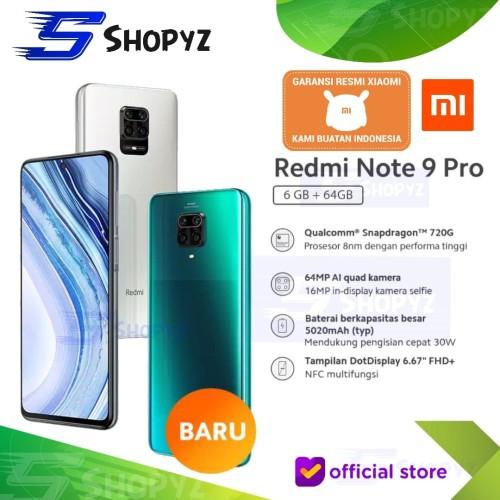 Foto Produk XIAOMI REDMI NOTE 9 PRO NFC - 6GB 64GB 6/64 - SNAPDRAGON 720G - RESMI - Tropical Green dari Shopyz ID