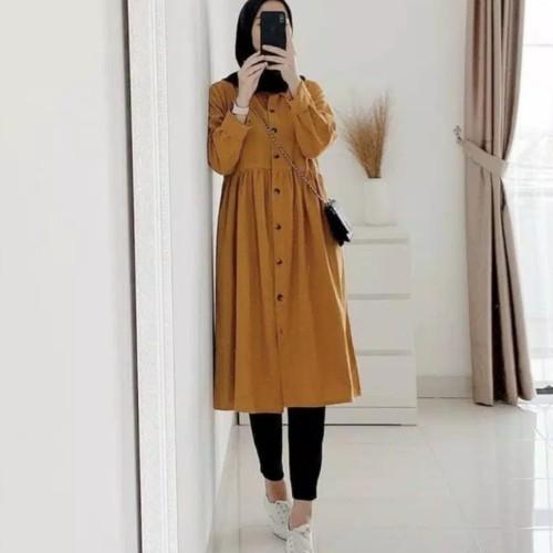 Foto Produk Tunik Dzuvia l Dzudia Kancing Hidup l Neda Tunik l Terbaru & Terlaris dari B.O.M baju Online murah1