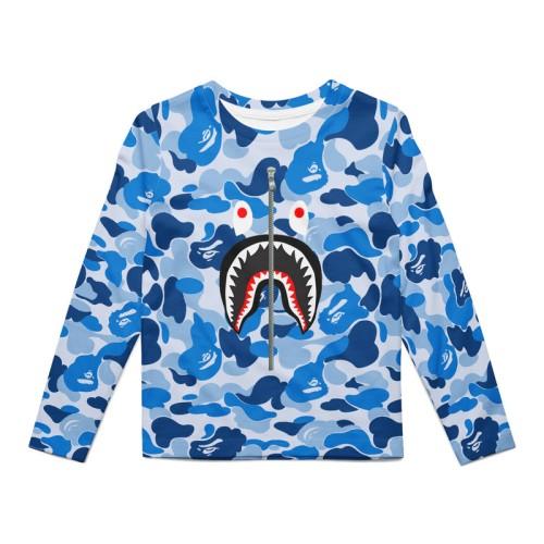 Foto Produk Kaos Anak Dry Panjang Fit Bape Shark Blue dari TmaC