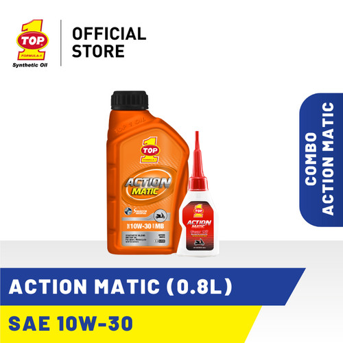 Foto Produk Paket Motor Matic A - TOP 1 ACTION MATIC SAE 10W-30 | 0.8 L dari TOP1 Store