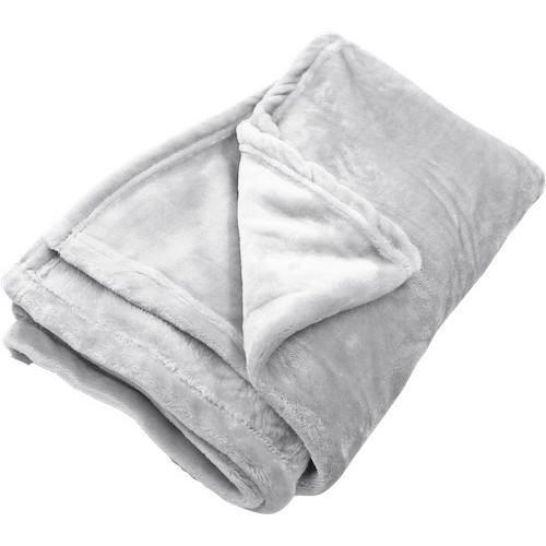 Foto Produk Sprei Nyenyak Coral Blanket - 110x150 - Light Grey dari Sprei Nyenyak Official