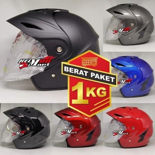 Foto Produk Helm SNI Murah TGP Jp5 Solid Five helm half face dari Helm Mart 88
