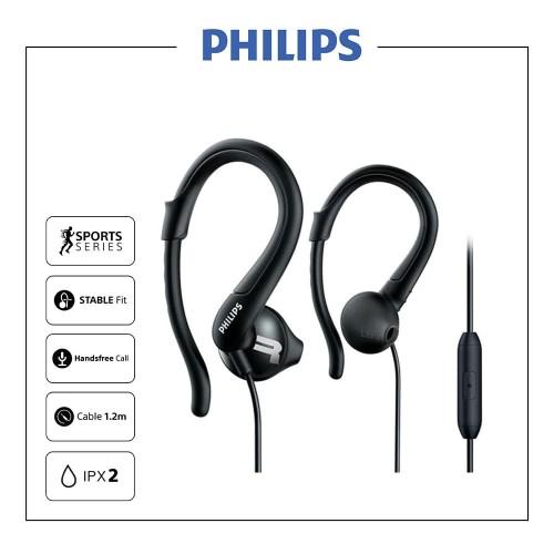 Foto Produk PHILIPS Sport Earphone with Mic - SHQ 1255 Black dari Philips Audio Official