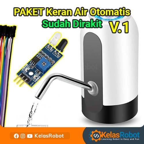 Foto Produk Paket Keran Pompa Air Otomatis SUDAH DIRAKIT V1 IR Obstacle dari Kelas Robot