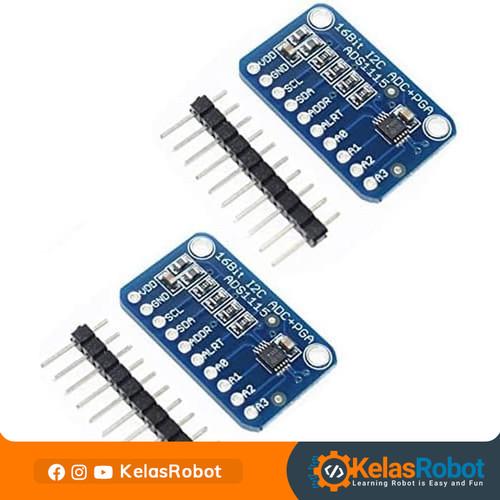 Foto Produk 16Bit I2C ADS1115 Module ADC 4 Channel with PGA Arduino dari Kelas Robot