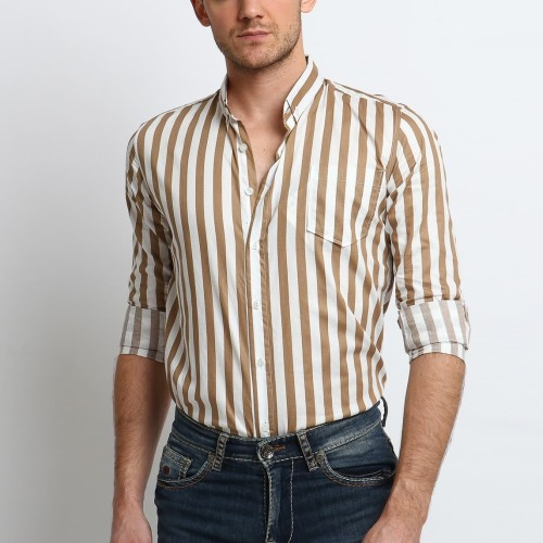 Foto Produk VENGOZ Kemeja Stripe Pria - Shaw Shirt LS - S dari VENGOZ