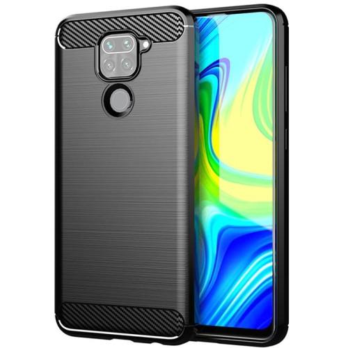 Foto Produk Armor Carbon TPU Case Xiaomi RedMi Note 9 - Casing Black Soft Cover dari Logay Accessories