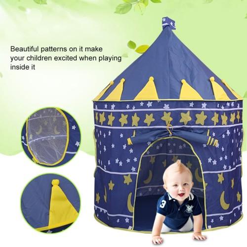 Foto Produk Tenda camping Bermain Anak Castle Kids Tent Tenda Rumah Mainan Anak - Merah Muda dari lbagstore
