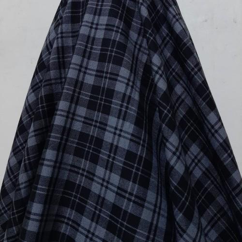 Foto Produk Kain Kotak Wool Poly Cotton ( Abu Tua / Hitam ) dari BUARAN INDAH JAYA