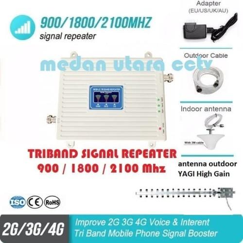 Foto Produk paket GSM repeater High Power TRIBand 2G 3G 4G DGN YAGI HIGH GAIN dari Medan Utara CCTV