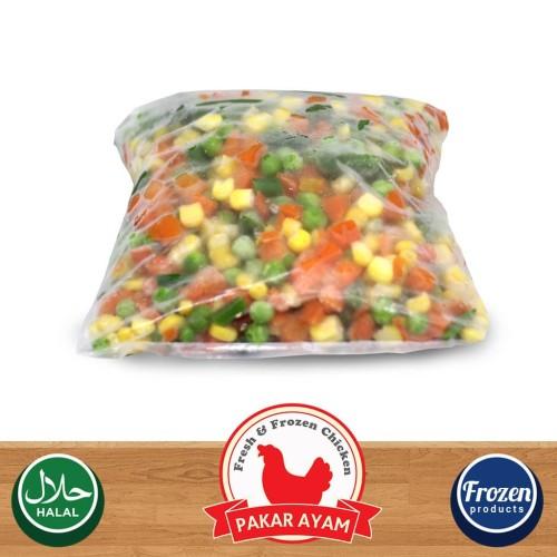 Foto Produk Vegetable Mix 4 Way Kemasan 1kg Repack Sayuran Frozen 4 Jenis dari Pakar Ayam