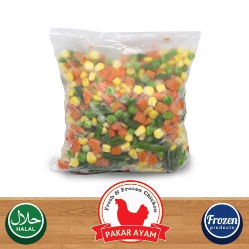Foto Produk Vegetable Mix 4 Way Kemasan 500gr Repack Sayuran Frozen 4 Jenis dari Pakar Ayam
