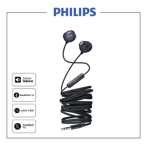 Foto Produk Philips UpBeat Earphone With Mic SHE 2305 Black dari Philips Audio Official