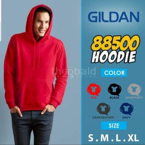 Foto Produk Gildan Hoodie 88500 Original dari Kaos Polos Theobald